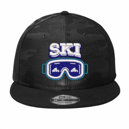 Ski Embroidered Hat Camo Snapback Designed By Madhatter