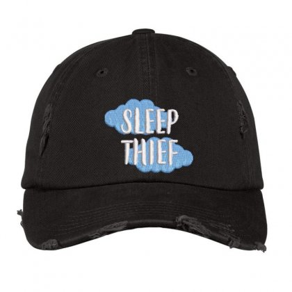 Sleep Thief Embroidered Hat Distressed Cap Designed By Madhatter