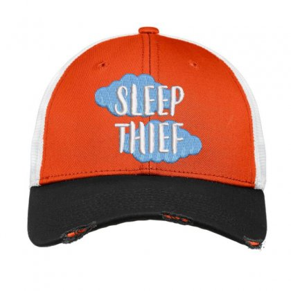 Sleep Thief Embroidered Hat Vintage Mesh Cap Designed By Madhatter