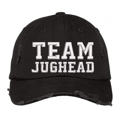 Team Jughead Embroidered Hat Distressed Cap Designed By Madhatter