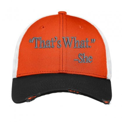That's What She Embroidered Hat Vintage Mesh Cap Designed By Madhatter