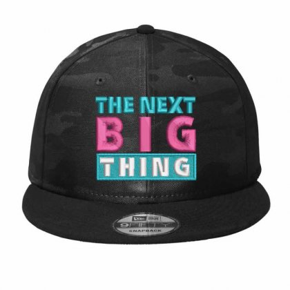 Big Thing Embroidered Hat Camo Snapback Designed By Madhatter