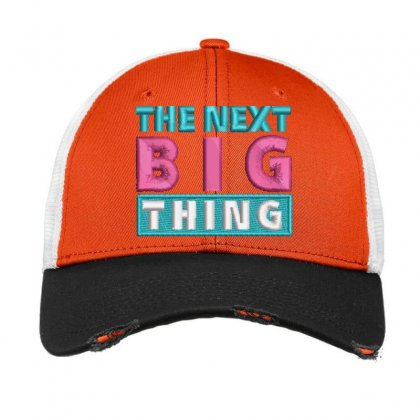 Big Thing Embroidered Hat Vintage Mesh Cap Designed By Madhatter