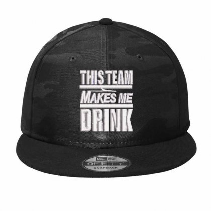This Team Embroidered Hat Camo Snapback Designed By Madhatter