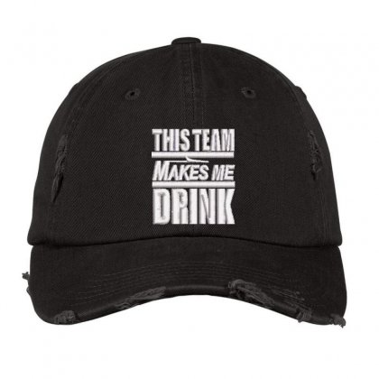 This Team Embroidered Hat Distressed Cap Designed By Madhatter