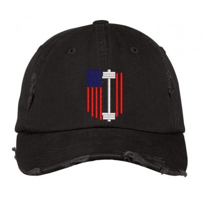 Usa Embroidered Hat Distressed Cap Designed By Madhatter