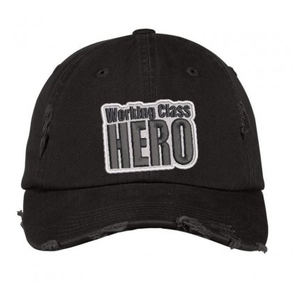 Hero Embroidered Hat Distressed Cap Designed By Madhatter