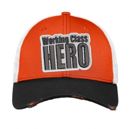 Hero Embroidered Hat Vintage Mesh Cap Designed By Madhatter