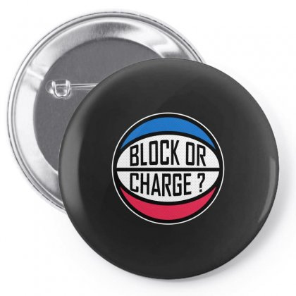 Block Or Charge Pin-back Button Designed By Shirt1na