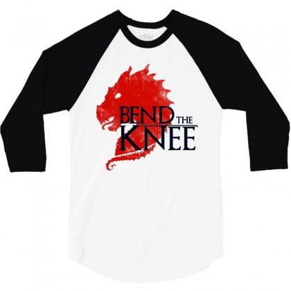 Bend The Knee Hot 3/4 Sleeve Shirt Designed By William Art
