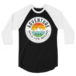 wild adventure mountain travel 3/4 Sleeve Shirt | Artistshot