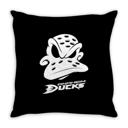 Ducks Anaheim Throw Pillow Designed By Cocoloneo