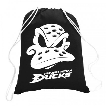 Ducks Anaheim Drawstring Bags Designed By Cocoloneo
