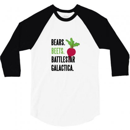 Bears Beets Battlestar Galactica Funny 3/4 Sleeve Shirt Designed By Ratna Tier