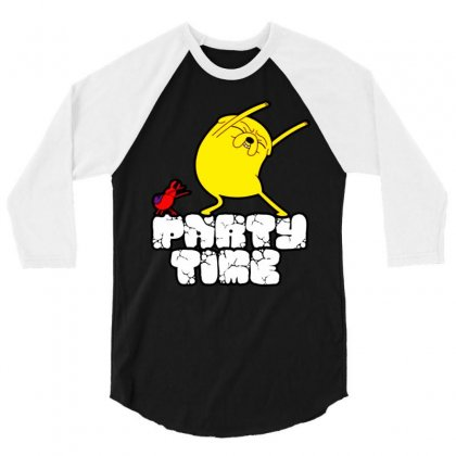 Jake The Dog Party Time 3/4 Sleeve Shirt Designed By William Art