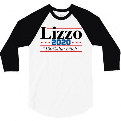 Lizzo 2020 100% That Bitch V2 3/4 Sleeve Shirt Designed By William Art