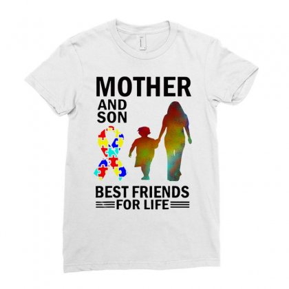 Autism Awareness Mother And Son Best Friends For Life Ladies Fitted T-shirt Designed By William Art