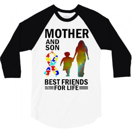 Autism Awareness Mother And Son Best Friends For Life 3/4 Sleeve Shirt Designed By William Art