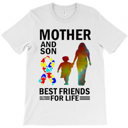 Autism Awareness Mother And Son Best Friends For Life T-shirt Designed By William Art