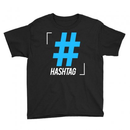 Hashtag Symbol Letter Youth Tee Designed By Designisfun