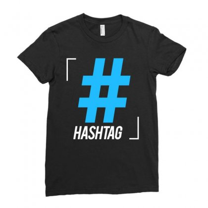Hashtag Symbol Letter Ladies Fitted T-shirt Designed By Designisfun