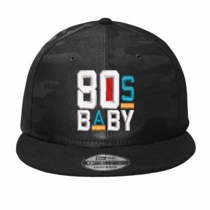 80s Baby Embroidered Hat Camo Snapback Designed By Madhatter