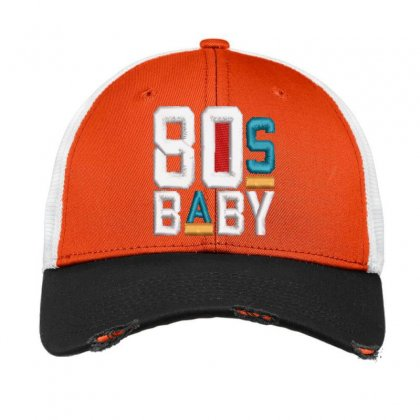 80s Baby Embroidered Hat Vintage Mesh Cap Designed By Madhatter