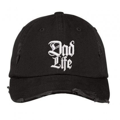 Dad Life Embroidered Hat Distressed Cap Designed By Madhatter