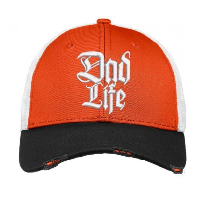 Dad Life Embroidered Hat Vintage Mesh Cap Designed By Madhatter