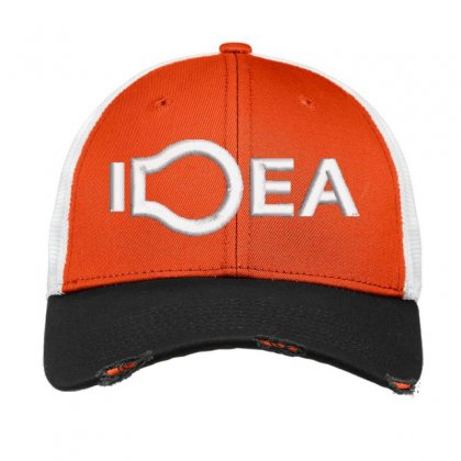 Idea Embroidered Hat Vintage Mesh Cap Designed By Madhatter