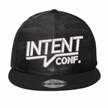 Intent Conf Embroidered Hat Camo Snapback Designed By Madhatter