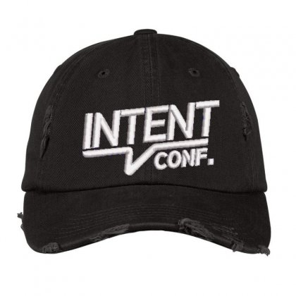 Intent Conf Embroidered Hat Distressed Cap Designed By Madhatter