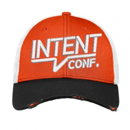 Intent Conf Embroidered Hat Vintage Mesh Cap Designed By Madhatter