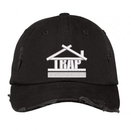 Trap Embroidered Hat Distressed Cap Designed By Madhatter