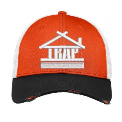 Trap Embroidered Hat Vintage Mesh Cap Designed By Madhatter