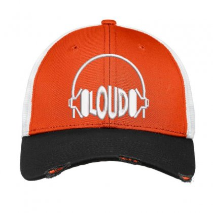 Loud Embroidered Hat Vintage Mesh Cap Designed By Madhatter
