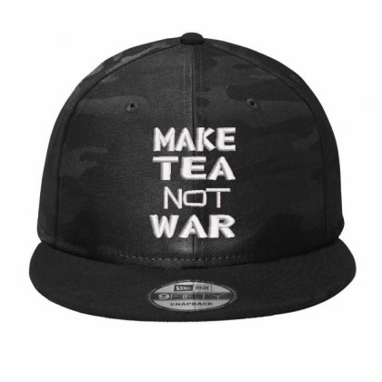 Make Tea Not War Embroidered Hat Camo Snapback Designed By Madhatter