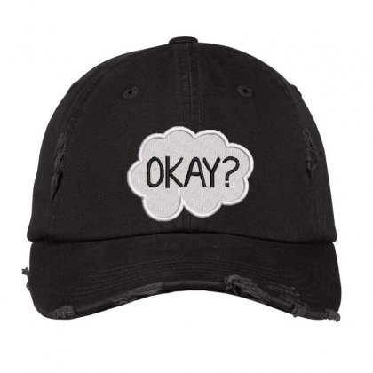 Okay  Embroidered Hat Distressed Cap Designed By Madhatter