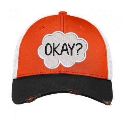 Okay  Embroidered Hat Vintage Mesh Cap Designed By Madhatter