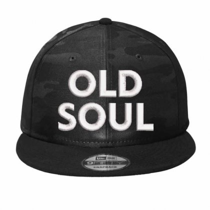 Old Soul Embroidered Hat Camo Snapback Designed By Madhatter
