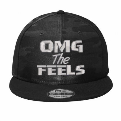 Omg The Feels Embroidered Hat Camo Snapback Designed By Madhatter