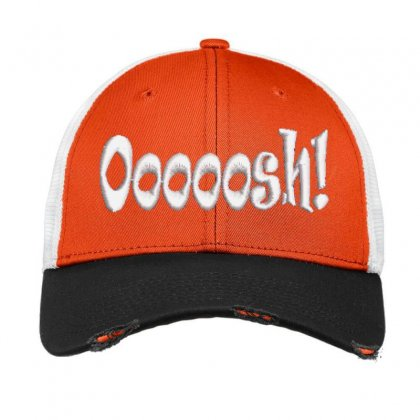 Ooooosh Embroidered Hat Vintage Mesh Cap Designed By Madhatter