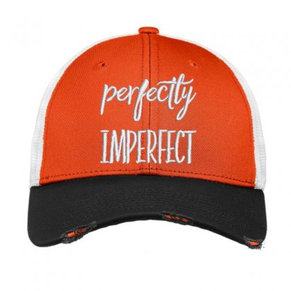 Perfectly Imperfect Embroidered Hat Vintage Mesh Cap Designed By Madhatter