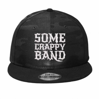 Some Crappy Band Embroidered Hat Camo Snapback Designed By Madhatter