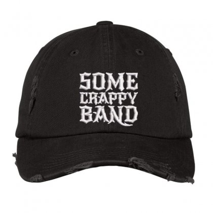 Some Crappy Band Embroidered Hat Distressed Cap Designed By Madhatter