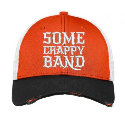 Some Crappy Band Embroidered Hat Vintage Mesh Cap Designed By Madhatter