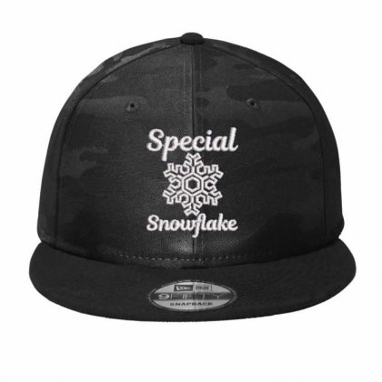 Special Snowflake Embroidered Hat Camo Snapback Designed By Madhatter