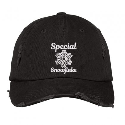 Special Snowflake Embroidered Hat Distressed Cap Designed By Madhatter