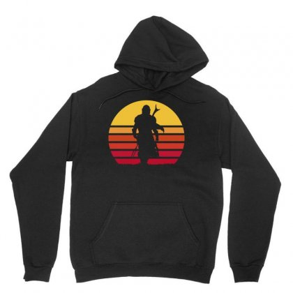 Mando Retro Unisex Hoodie Designed By Waroenk Design