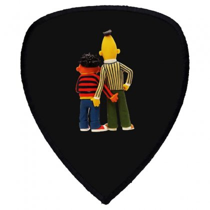 Real Love Bert And Ernie Shield S Patch Designed By Jurdex Tees